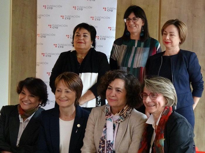 María Antonia Peña participa junto con otras seis rectoras en un debate sobre el liderazgo de la mujer en la universidad