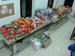 Campaña de recogida de alimentos organizada por la Hermandad de los Mutilados