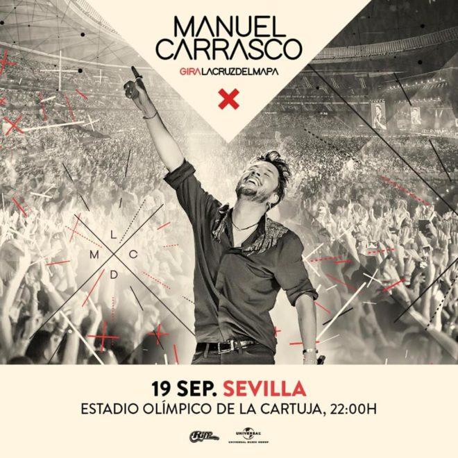 Manuel Carrasco volverá a ofrecer un concierto en el Estadio Olímpico de Sevilla en 2020
