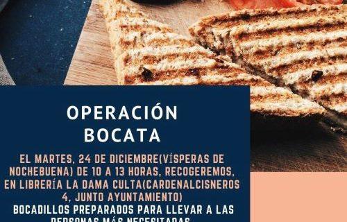 Piden la colaboración de los onubenses para la 'Operación Bocata' de cara a la Nochebuena