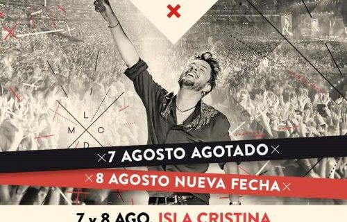 Manuel Carrasco agota en horas las entradas para sus dos conciertos en Isla Cristina