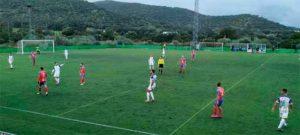 El Aroche sacó adelante su partido de este domingo ante el Atlético Algabeño. / Foto: @lineadegol.