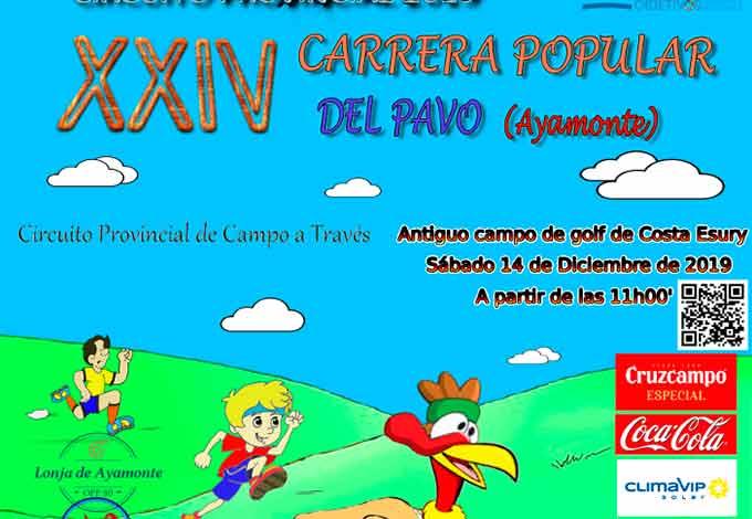 El antiguo campo de golf Costa Esuri alberga este sábado la XXIV Carrera Popular del Pavo en Ayamonte