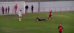 Sólo pudo empatar el Cartaya en su partido ante el San Roque. / Foto: Cartaya TV.