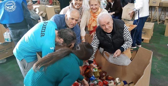 El Banco de Alimentos de Huelva clasifica los 120.000 kilos recaudados en la Gran Recogida 2019