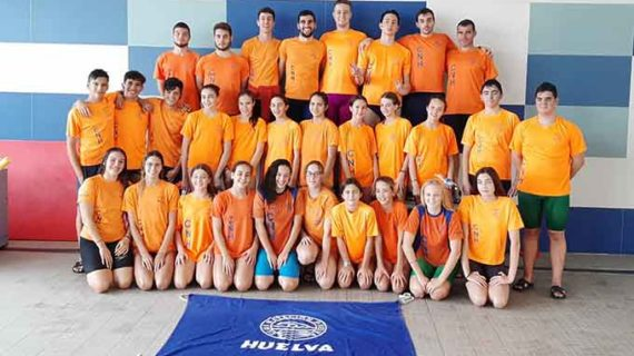El CN Huelva domina con solvencia la segunda jornada del Circuito Provincial de Natación