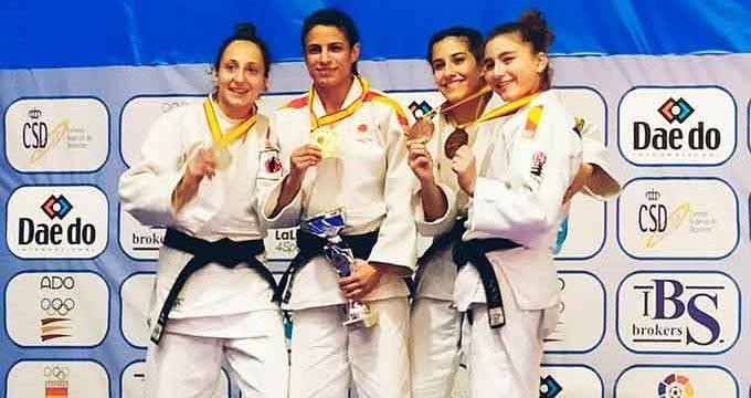 Cinta García, campeona de España de judo en la categoría de menos 48 kilos
