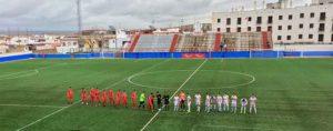 Prolegómenos del partido La Palma-San José, resuelto en favor del cuadro condal. / Foto: @LaPalmaCF.