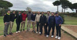 Participantes en el Torneo de Principiantes, o de 'Maufas' como se les llama de manera cariñosa a los nuevo jugadores de golf.