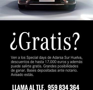 El concesionario Adarsa Sur pone en marcha una campaña en la que se puede conseguir gratuitamente un Mercedes Benz