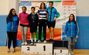 En Sub 13, Cinta del Rocío Molina logró el oro en dobles mixtos junto a Alejandro Béjar (Benalmádena).