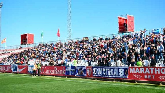 El Recreativo de Huelva brinda la victoria ante el Sevilla Atlético a quien más se lo merece, su fiel afición