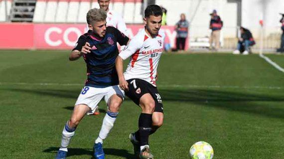 Una exhibición de Isi Ros conduce al Recre a una victoria balsámica ante el Sevilla Atlético (1-3)