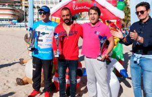 Nuevo podio para Rubén Gutiérrez en la XXVII Travesía de Navidad 'Playa del Postiguet'.