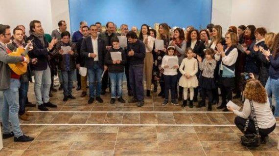 La Diputación felicita la Navidad a toda la provincia con villancicos flamencos ante su tradicional belén
