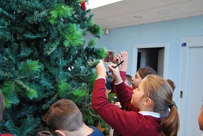 El árbol de los deseos de CR Palos recolecta estrellas que brillan en beneficio de una actividad solidaria