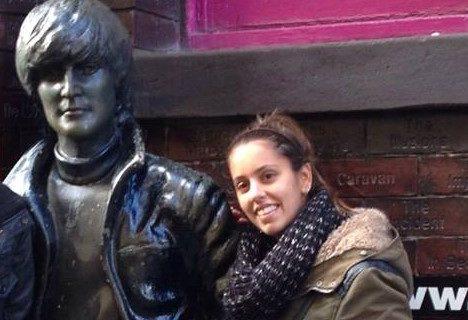 La riotinteña María Dorado, jefa de cocina de un restaurante italiano en Liverpool