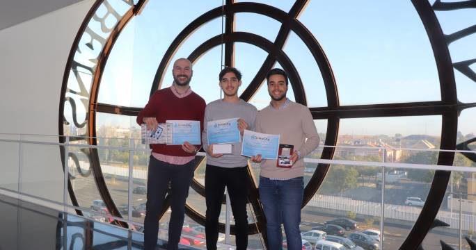 Tres alumnos del Grado de Ingeniería informática, ganadores del Concurso de Ideas Sciencity 2019