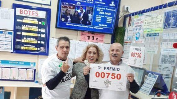 La Lotería de Navidad deja un tercer premio en Punta Umbría, un cuarto en La Antilla y un quinto en San Bartolomé