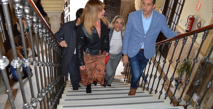 Los senadores de Huelva se interesan por la Comunidad Energética Local de San Juan del Puerto