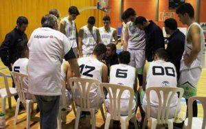 El equipo Cadete masculino de Andalucía derrotó a Galicia 65-59 en la primera jornada. / Foto: FAB Huelva.