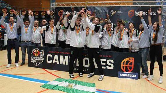 Andalucía conquista el oro en el Infantil masculino en el Campeonato de España de Selecciones Autonómicas de baloncesto