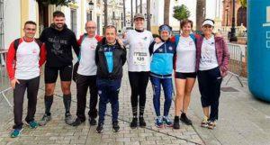Representantes del Club Amigos del Atletismo de La Palma del Condado.
