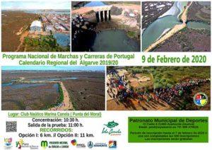 Cartel de la ruta de Senderismo que oferta el PMD de Ayamonte.