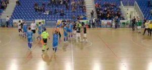Los jugadores del CD Sordos Huelva celebran su pase a la final del Europeo.