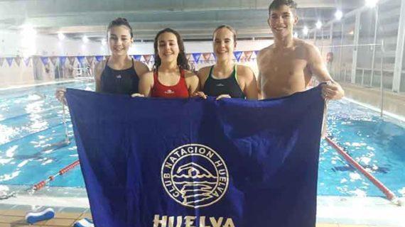 Cuatro nadadores representarán al CN Huelva en el Campeonato de Andalucía Infantil de Invierno