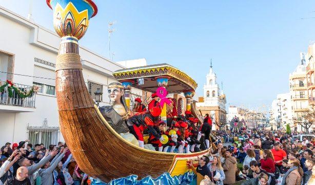 Caramelos de mojama en los Reyes Magos de Isla Cristina