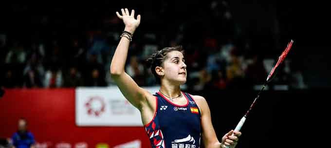 Carolina Marín superó sin problemas la primera ronda del torneo que se celebra en Barcelona.