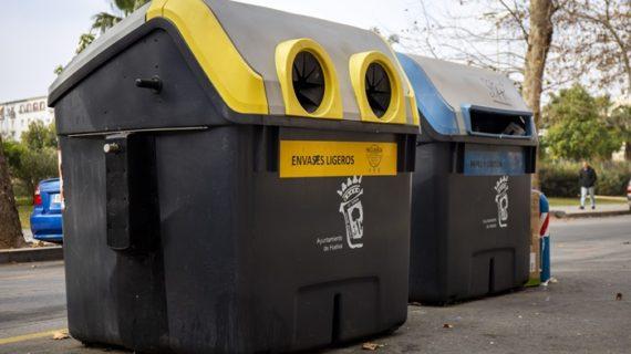 La separación de envases en el contenedor amarillo para su reciclaje, aumenta un 15% en Huelva