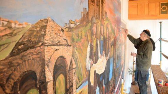 Un nuevo mural del Descubrimiento adorna el Salón de Plenos de Palos de la Frontera