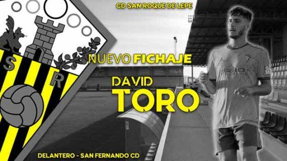 El San Roque de Lepe anuncia el fichaje del delantero David Toro procedente del San Fernando