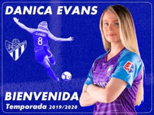 Danica Evans llega al Sporting con ganas de aportar gol. / Foto: @sportinghuelva.