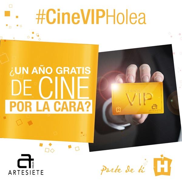 Holea y Artesiete regalan cine gratis durante un año