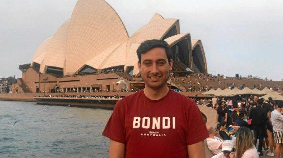 El onubense Pablo Cabanillas vive en la ciudad australiana de Melbourne, ávido de nuevas aventuras