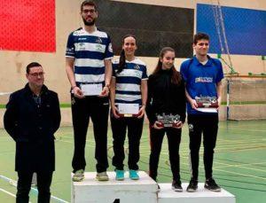 Haideé Ojeda y Víctor Martín, ganadores en los dobles mixtos.