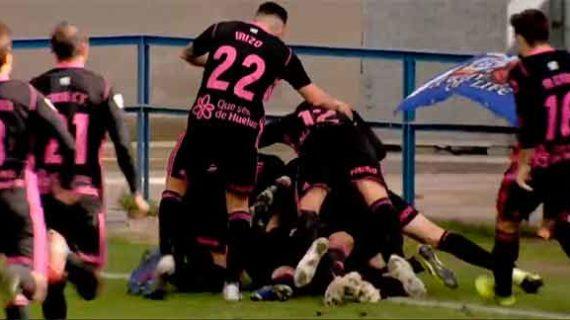 Un gol de Diego Jiménez en el tiempo añadido da una victoria inesperada al Recreativo en Talavera (0-1)