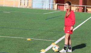 Natalia Nogareda volvió a los entrenamientos del Sporting tras su lesión. / Foto: www.sportingclubhuelva.com.