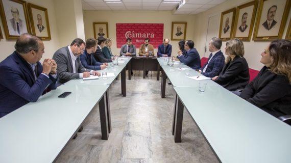 La Cámara de Comercio de Huelva muestra sus proyectos al alcalde de la capital