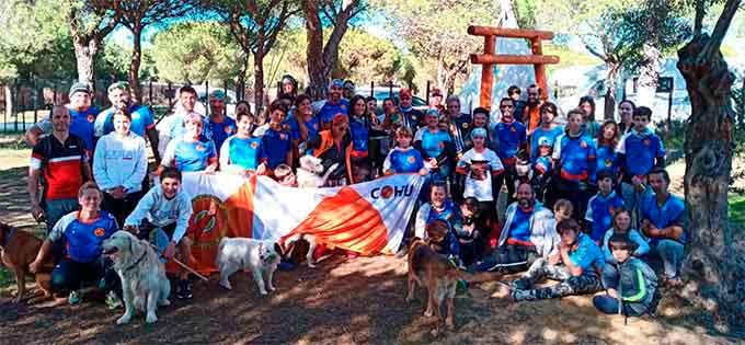 El Club de Orientación Huelva realizó una jornada de convivencia en Matalascañas.