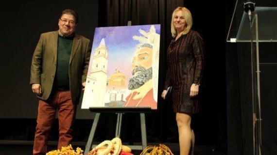 Trigueros presenta el cartel anunciador de sus Fiestas de San Antonio Abad, obra de Manuela Pérez