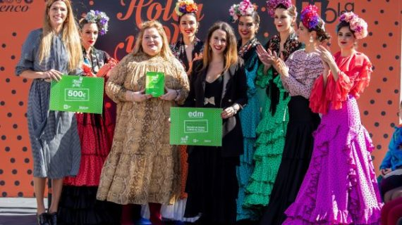 La propuesta de Rocío Domínguez gana el concurso de noveles de la pasarela flamenca 'Holea y Olé'