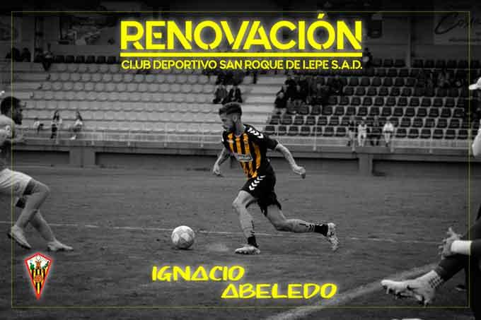 El San Roque renueva el contrato de Abeledo una temporada más. / Foto: @SanRoqueLepe.