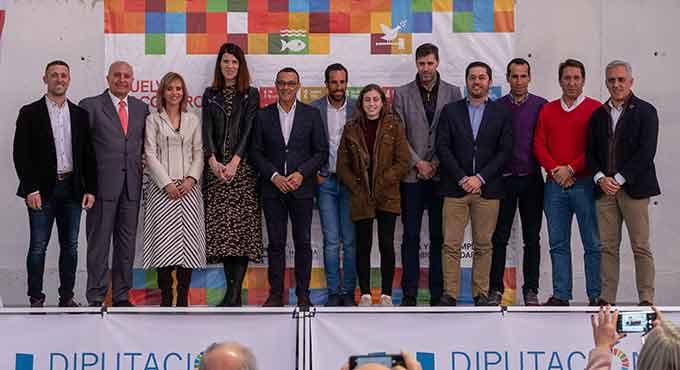 Un momento del acto en el que se dio a conocer que Huelva acogerá los XX Campeonatos Iberoamericanos de Atletismo en 2022.