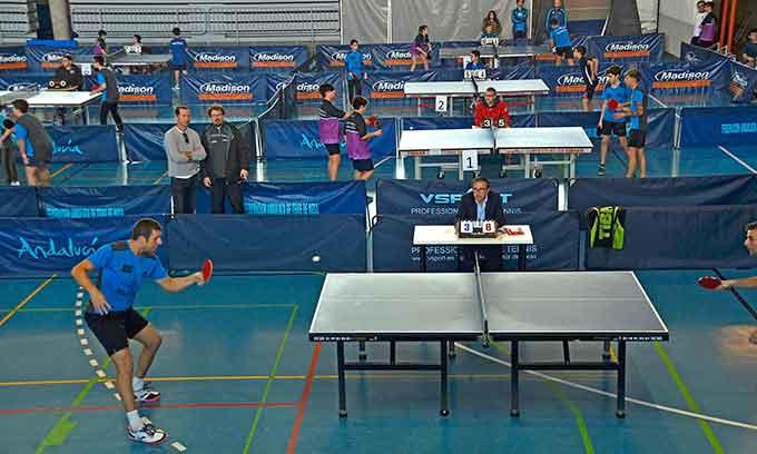 Ayamonte fue escenario de la primera jornada de la Liga Provincial de tenis de mesa.