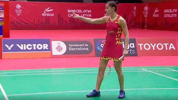 La inesperada derrota de Carolina Marín ante Chochuwong en la final en Barcelona no empaña su buen torneo