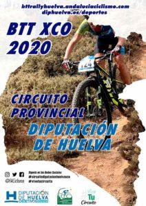 Cartel anunciador del Circuito Diputación de Huelva de BTT Rally 2020, que se abre el 16 de febrero en El Granado.